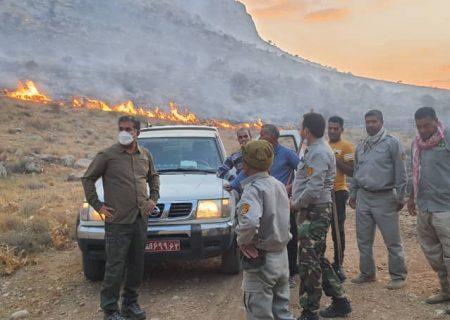 مهار آتش در پارک ملی بمو