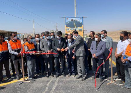 پروژه واریانت راه اصلی قادرآباد-سرچهان بهره برداری شد