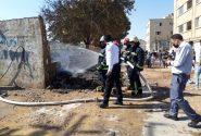 انفجار و حریق هولناک در کارگاه غیر مجاز سوخت گیری گاز LPG